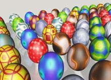 Group of Easter eggs Royalty Free Stock Image