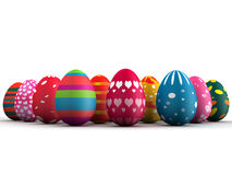 Group of Easter eggs. Group of colorful Easter eggs 3d illustration Stock Photos