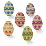 Group Easter eggs Stock Photos