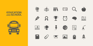Group of education and school icons. Group of twenty education and school icons Royalty Free Stock Photography