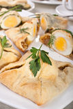 Group of Egg Pastries Royalty Free Stock Photo