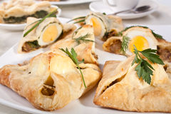 Group of Egg Pastries Stock Photos