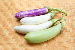 Group of eggplant Royalty Free Stock Images