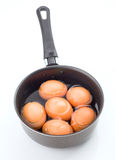 Group of eggs immersed in water Royalty Free Stock Photography