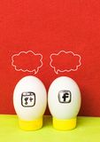 Group eggs sign, concept of social network Royalty Free Stock Photo