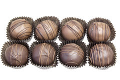 Group of Eight Chocolate Truffles Stock Images