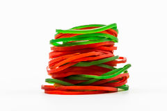 Group of elastic bands Stock Photo