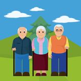 Group of the elderly Stock Image