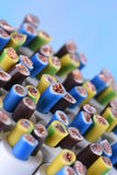 Group of electric cables closeup Royalty Free Stock Photo