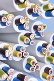 Group of electric cables closeup Royalty Free Stock Images