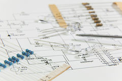 Group of electronic components Stock Photo