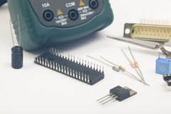 Group of electronic components Royalty Free Stock Image