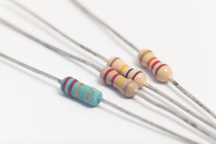Group of electronic resistors Royalty Free Stock Photography