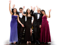 Group of elegant happy friends Stock Images