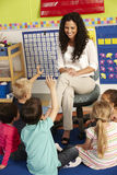 Group Of Elementary Age Schoolchildren In Class With Teacher Stock Photography