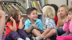 Group Of Elementary Age Schoolchildren stock footage