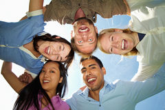 Group embracing Royalty Free Stock Photography