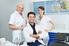 Group of employees at dentist Stock Images