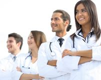 Group of employees of the medical center Royalty Free Stock Images