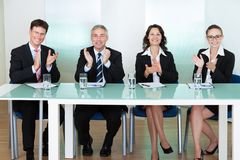 Group of employment recruitment officers Stock Photography
