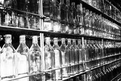 Group of empty bottles. Royalty Free Stock Images