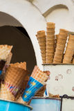 The group of empty cone for sales Stock Photo