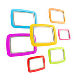 Group of empty copyspace frames isolated Stock Images