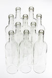 Group of empty glass bottle Royalty Free Stock Images