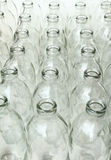 Group of empty glass bottles Royalty Free Stock Photos