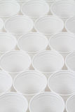 Group of white plastic cups Stock Image