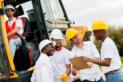 Group of engineers on a construction Stock Images
