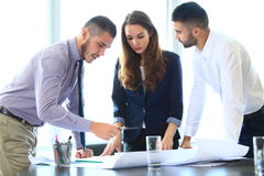 Group of Engineers Planning for New Project. Group of Engineers Planning for a New Project Royalty Free Stock Photo