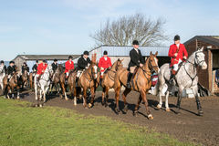 A group of english riders ready for drag hunting Royalty Free Stock Photo