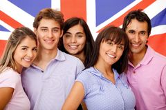 Group of English students Royalty Free Stock Images