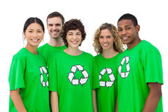 Group of environmental activists smiling Royalty Free Stock Photography