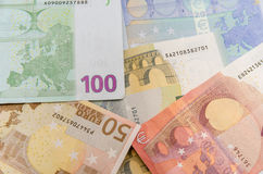 Group euro banknotes Royalty Free Stock Images