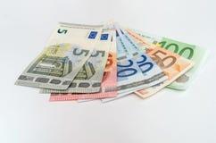 Group euro banknotes Stock Photos