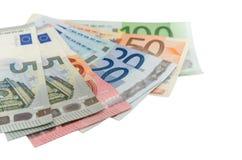Group euro banknotes Stock Photo