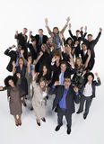 Group Of Excited Businesspeople Stock Photos