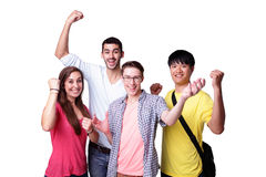 Group of excited students Royalty Free Stock Photos
