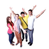 Group of excited students Stock Photos