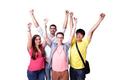 Group of excited students Royalty Free Stock Images