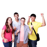 Group of excited students Stock Image