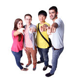 Group of excited students Royalty Free Stock Photography