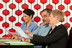 Group of executives in office Stock Image