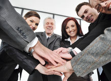 Group of happy smiling executives Stock Photography