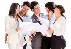 Group of executives smiling Stock Image