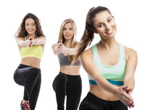 Group exercise classes Royalty Free Stock Photos