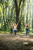Group exercises in nature Royalty Free Stock Photography