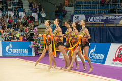 Group exercises, the team of Bulgaria Stock Images